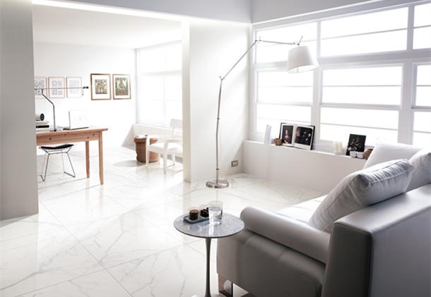 罗曼缔克瓷砖-白韵石系列效果图